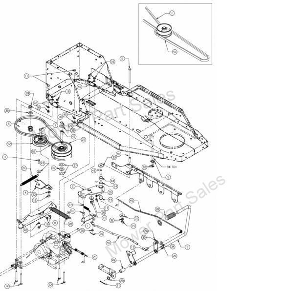 mtd lawn mower drive belt diagram