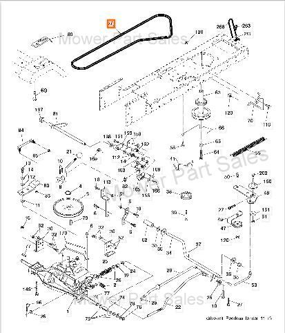 Craftsman Lt2000 Transmission Ground Drive Belt Part Numbers 401603 583271401 1226 P on john deere mower belt diagram