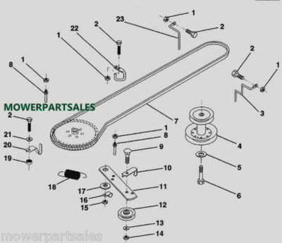 Craftsman Riding Lawn Mower Belt Diagram as well T13255489 Hook up carb linkage craftsman mod likewise 7wv6w Loosen Off Tension Replace Mower Blade moreover Murray Riding Mower Belt Replacement 493679 also Jdmassdeck. on john deere mower deck parts diagram