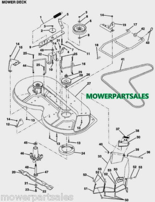 Wiring Diagram For A Craftsman Lawn Tractor as well Murray 12 5 Riding Lawn Mower 399097 as well 46 Inch Craftsman Riding Mower Belt Diagram also Replace drive belt on craftsman riding mower together with Pdf Mtd 46 Deck Diagram. on bolens garden tractor lawn mowers