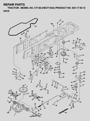 Lawn Mower Clipart Black And White furthermore Need Wiring Diagrams For Murray Riding Mowers also John Deere Transmission likewise John Deere 111 Mower Deck Parts Diagrams as well Husqvarna drive belt. on craftsman tractor mower deck diagram